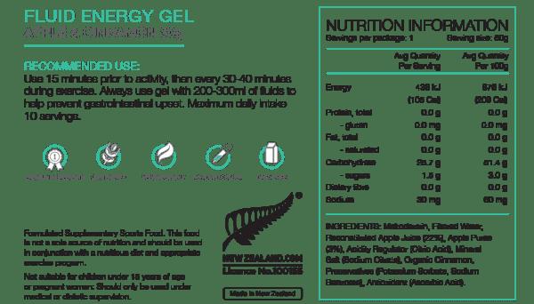 Pure Fluid Energy Gels (6 Flavours) | Pure_NIP_FluidGel_50gAppleCinn_1024x1024