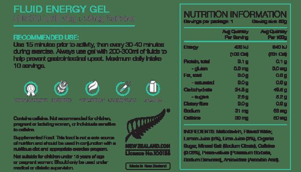 Pure Fluid Energy Gels (6 Flavours) | Pure_NIP_FluidGel_50gLemLimeCAFF_1024x1024