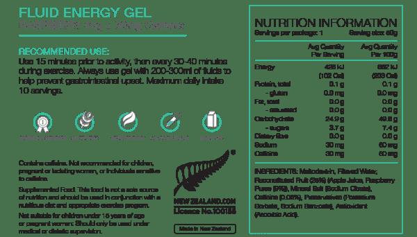 Pure Fluid Energy Gels (6 Flavours) | Pure_NIP_FluidGel_50gRaspCAFF_1024x1024