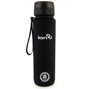Ion8 Leak Proof Water Bottle 1000ml (4 Colours) | QUENCH_Solid_Black-copy-1