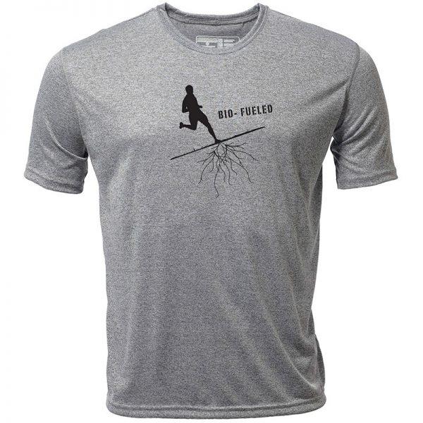 "Atayne ""Biofueled Runner"" Men's Short Sleeve Hybrid Top | mt3001_heathergray_bio-fueled_runner_mens"