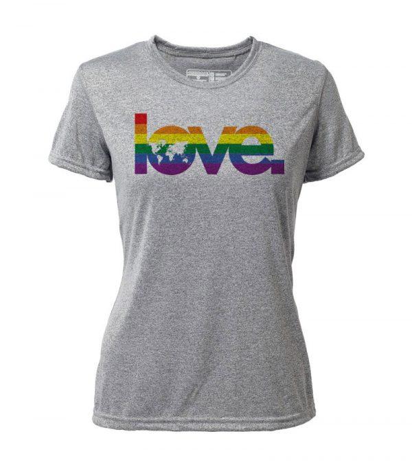 """Atayne """"Global Love"""" Women's Short Sleeve Hybrid Top   wt3001_global-love"""