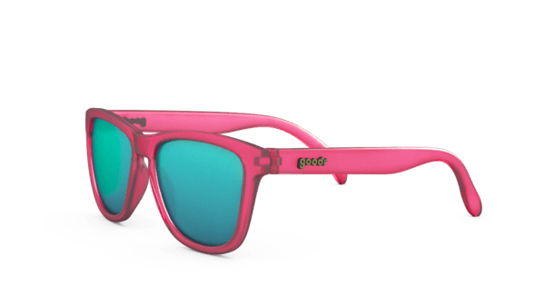 Pink and Teal Goodr OG Running Sunglasses