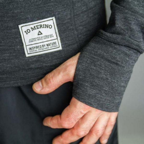 ioMerino Mens Long Sleeve Altitude Crew | IO Mens LS Crew Charcoal 2