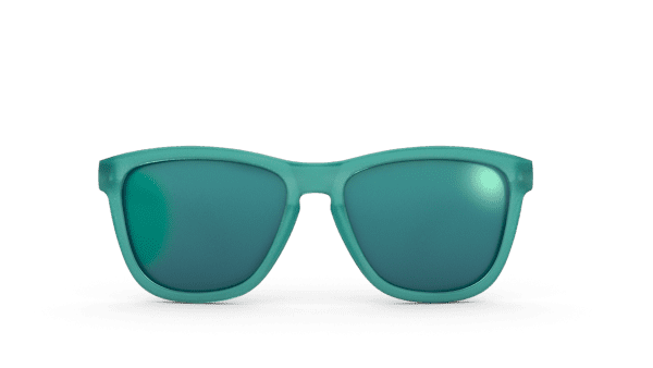Goodr OG Running Sunglasses - Nessy's Midnight Orgy | Goodr Sunglasses OG Teal Front
