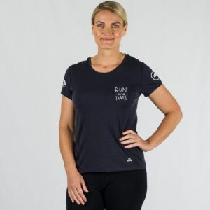 ioMerino Womens Ultra Tee Run all the Trails | RATT Womens Front