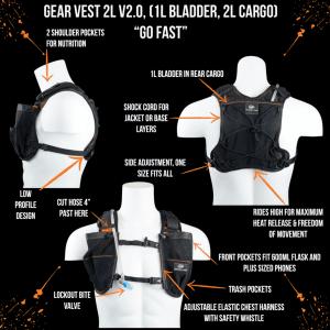 Orange Mud Gear Vest 2l (Black) | GearVest-BKOR