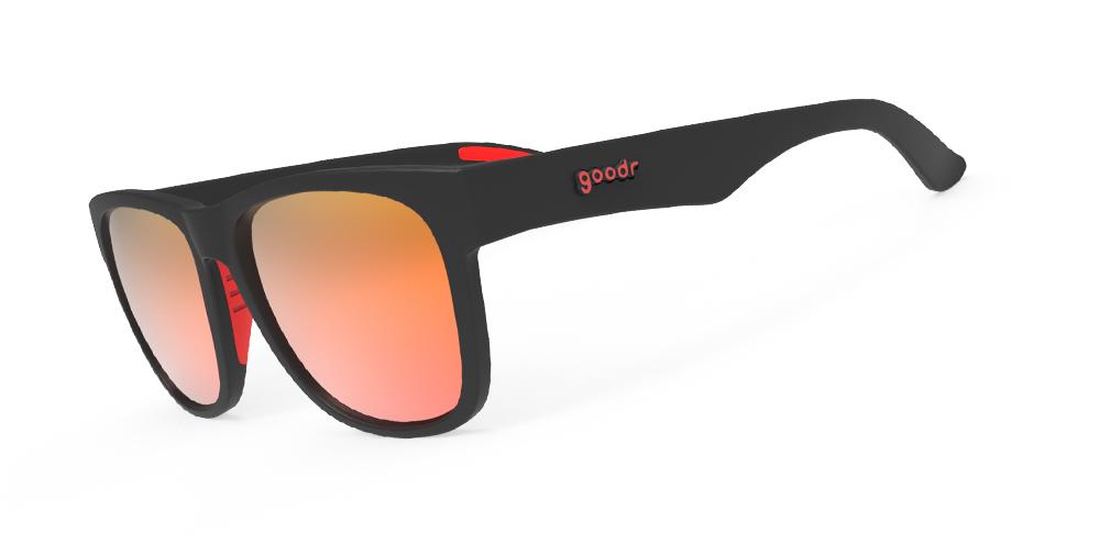 Goodr Beast BFG Sunglasses - Firebreather's Fireball Fury   FIREBREATHER'S FIREBALL FURY- (BFG-BK-RD1) Side