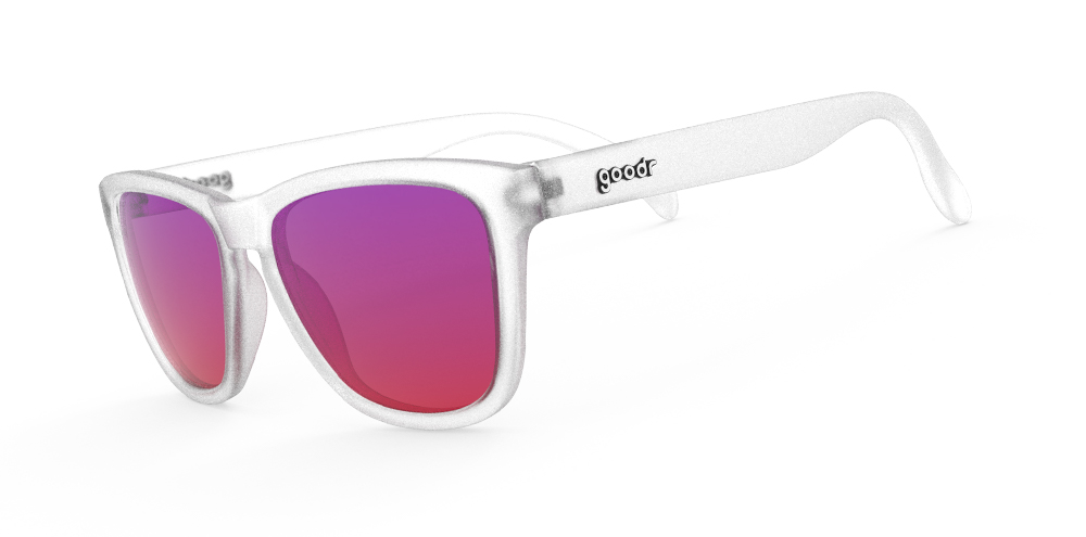 "3f0e3bcd06f2 Goodr OG Running Sunglasses - Sunset ""Squishee"" Brain Freeze - Pure ..."