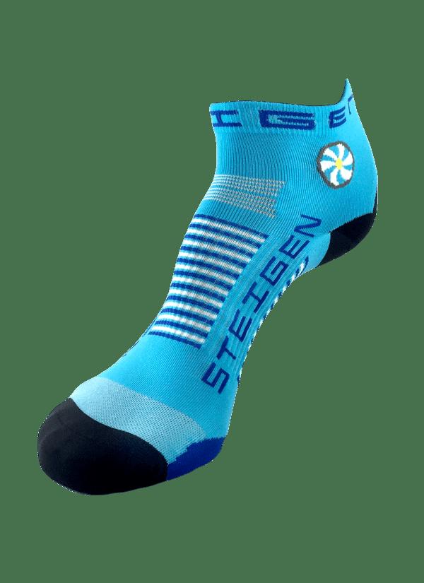 Steigen Quarter Length Running Socks (13 Colours) | Blue Quarter