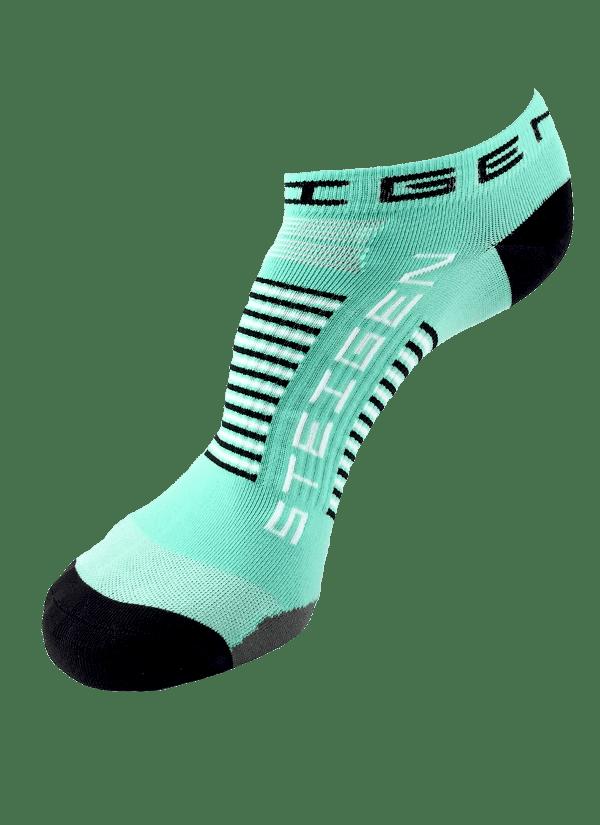 Steigen Zero Length Running Socks (8 Colours) | Green Zero