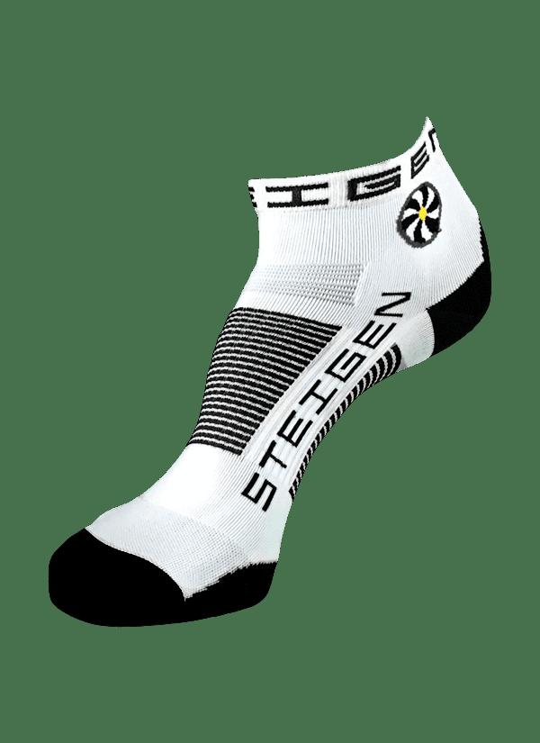 Steigen Quarter Length Running Socks (13 Colours) | White Quarter