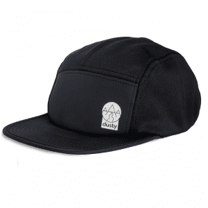 Dusty Trails Running Visor (3 Colours) | five-panel-black-front_2048x2048