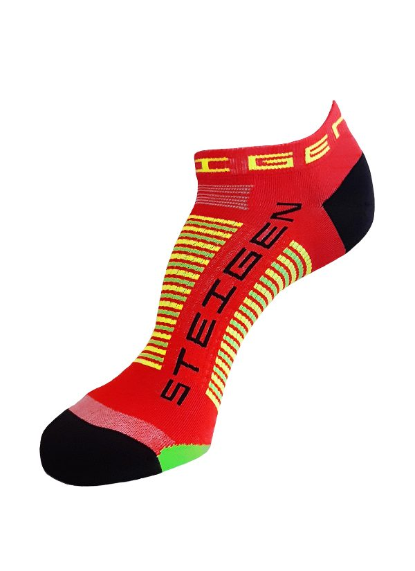 Steigen Zero Length Running Socks (8 Colours) | red-zero