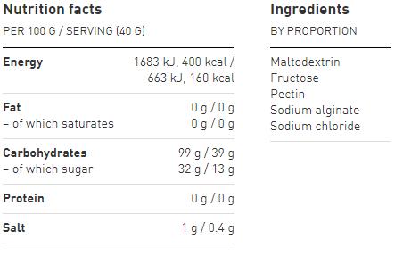 Maurten Drink Mix 160   Drink Mix 160 Nutrition