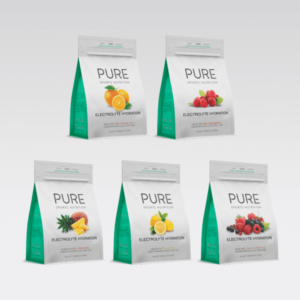 Pure Electrolyte Hydration 500g Pouch | PURE_Electrolyte_Hydration_500g_-_grey_background_-_grouped_1024x1024