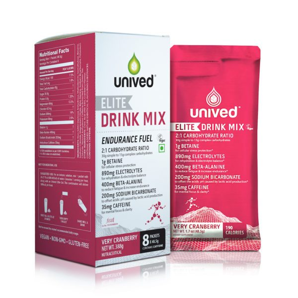 Unived Elite Vegan Drink Mix (3 Flavours) | Elite-Very-Cranberry-Drink-Mix-Box-with-pouch-600x600