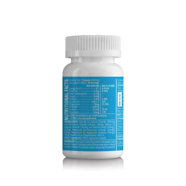 Unived Vegan Electrolyte Salt Capsules - 30 Servings | Unived-Salt-Caps-Electrolyte-Replacement-30-Vegan-Capsules-Nutrition-Facts-600x600