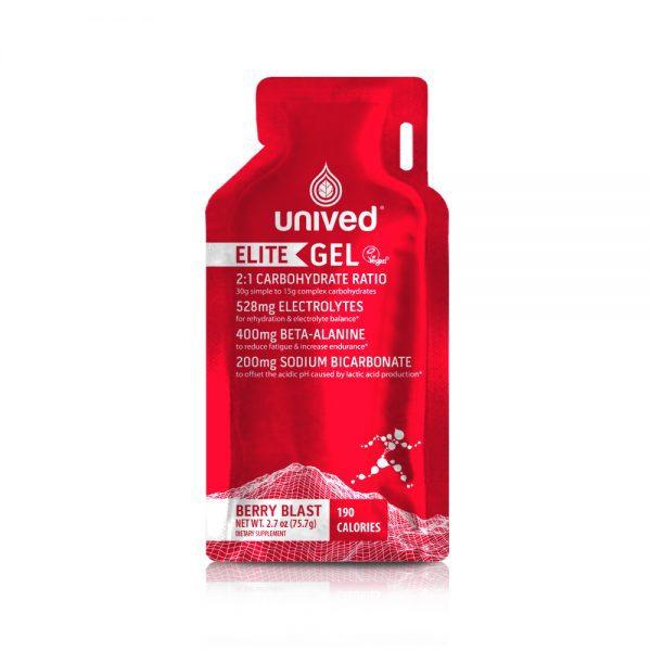 Unived Elite Vegan Energy Gel (5 Flavours)   Unived Elite Gel Berry Blast-Front
