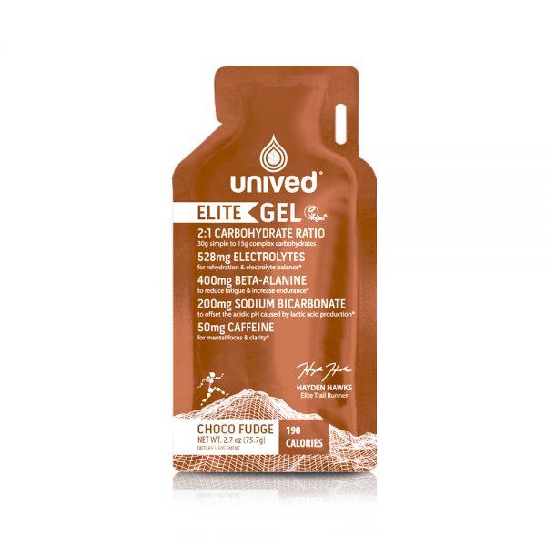 Unived Elite Vegan Energy Gel (6 Flavours) | Unived Elite Gel Choco Fudge-Front