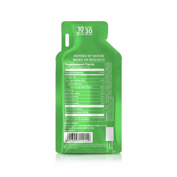 Unived Elite Vegan Energy Gel (5 Flavours)   Unived Elite Gel Melon Salt-Back