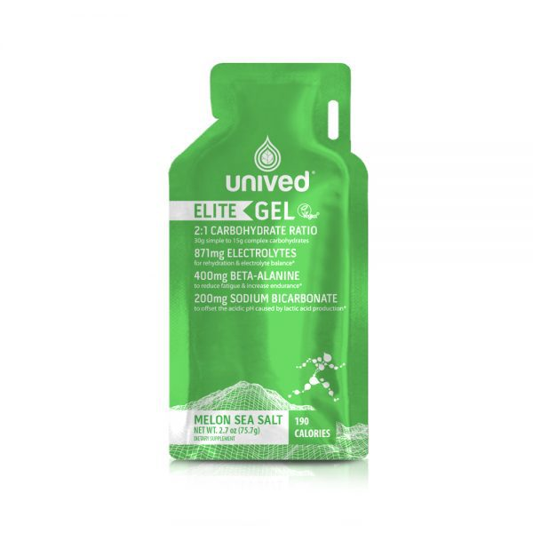 Unived Elite Vegan Energy Gel (5 Flavours)   Unived Elite Gel Melon Salt-Front