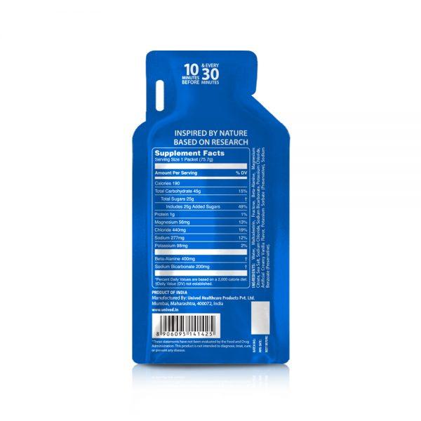Unived Elite Vegan Energy Gel (5 Flavours)   Unived Elite Gel Vanilla Sea Salt-Back
