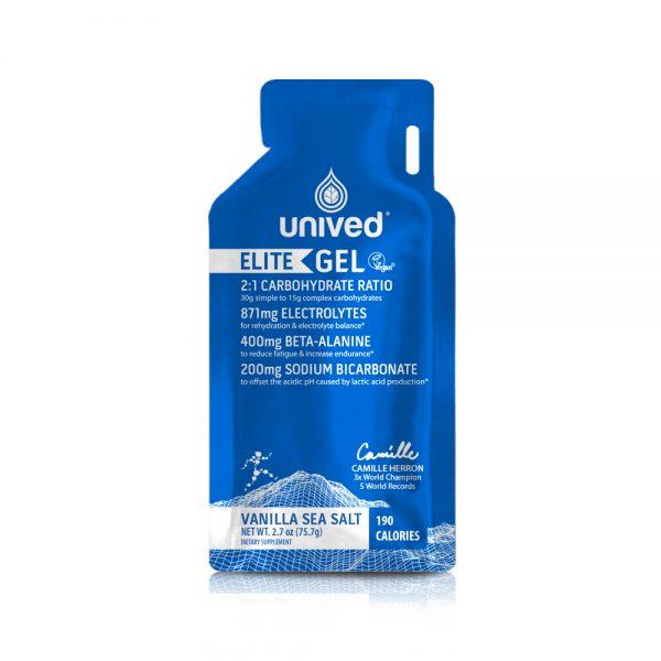 Unived Elite Vegan Energy Gel (5 Flavours)   Unived Elite Gel Vanilla Sea Salt-Front
