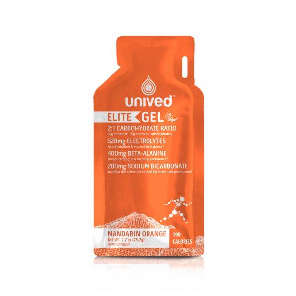 Unived Elite Vegan Energy Gel (5 Flavours)   Unived Elite Mandarin Orange-Front