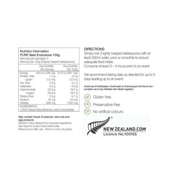 PURE Beet Endurance 150g Pouch | beet