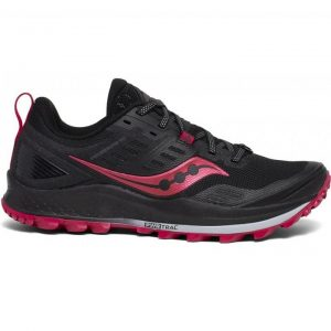 Saucony Women's Peregrine 10 (Black/Barberry) | s10556-20_1