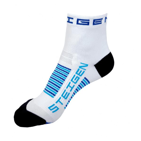 Steigen KIDS Quarter Length Running Socks (4 Colours) | kids-white-quarter