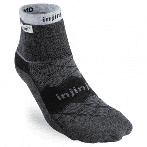 Injinji LINER + RUNNER Womens Mini-Crew | 344130_BLA_Front-NoToes_2048x