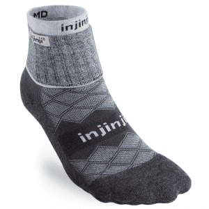 Injinji LINER + RUNNER Womens Mini-Crew | 344131_GRR_Front-NoToes_copy_2048x