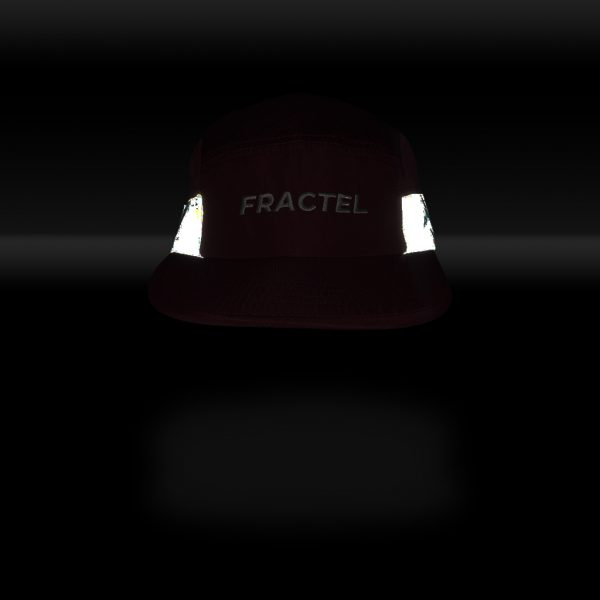 "Fractel ""Merlot"" Edition Reflective Cap | MERLOT_FRONT_REFLECT"