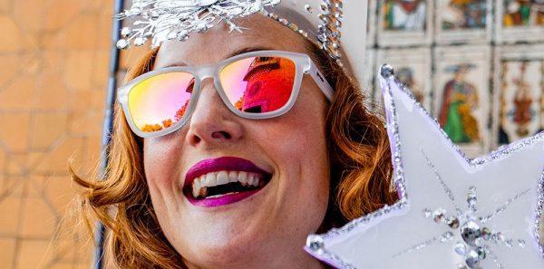 Goodr OG Running Sunglasses - Glinda's Resting Witch Face | goodr_SorcerySpectacles_Glinda_sRestingWitchFace_Lifestyle003glindas_rbf_1000x