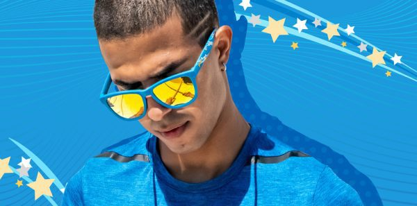 Goodr OG Running Sunglasses - Abracadamn! Aloe Kazam! | AloeKazam Face