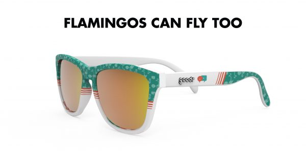 Goodr OG Running Sunglasses - Flamingos Can Fly Too | Flamingos Can Fly Too