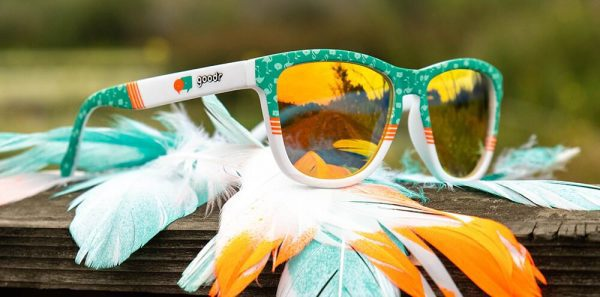 Goodr OG Running Sunglasses - Flamingos Can Fly Too | Flamingos Can Fly Too Lifestyle
