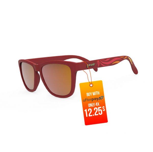 Goodr OG Running Sunglasses - Feather o' the Phoenix | Goodr OG Running Sunglasses Feather o the Phoenix