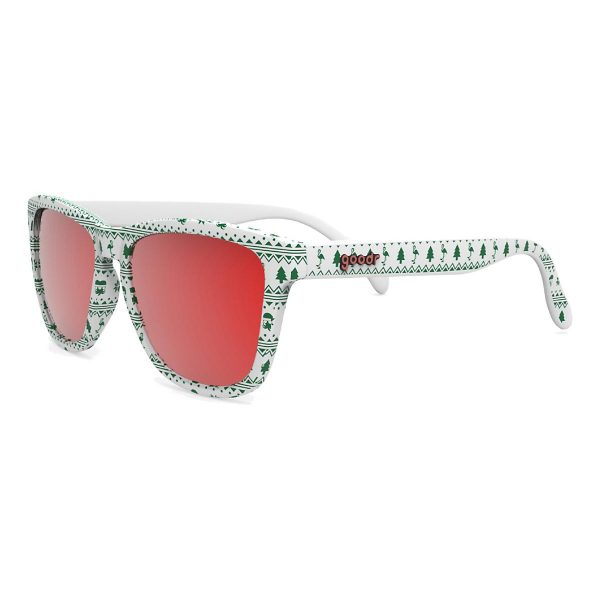 Goodr OG Running Sunglasses - Merry Flocking Christmas | Merry Flocking Christmas Side