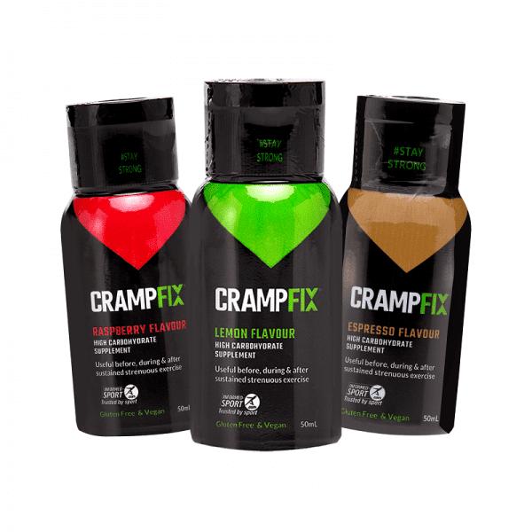 Crampfix 50ml Flip-top Lid Squeeze Bottle - 3 Flavours | 3-Bottles-Trans