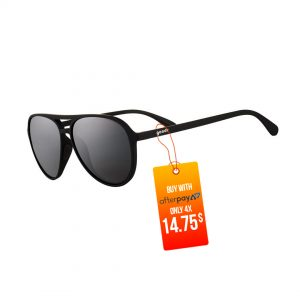 Goodr Mach Gs Aviator Running Sunglasses – Captain Blunt's Red-eye | Goodr-Mach-Gs-Aviator-Running-Sunglasses-Operation-Blackout