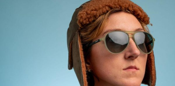 Goodr Mach Gs Aviator Running Sunglasses - Amelia Earhart Ghosted Me | buzzed_tower_on_face_lifestyle_1000x