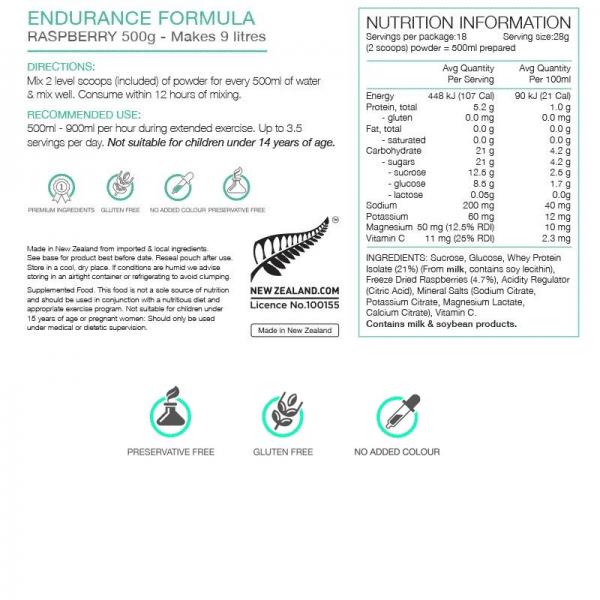 Pure Sports Nutrition Endurance Formula 500G Pouch (2 Flavours) | Nutrition