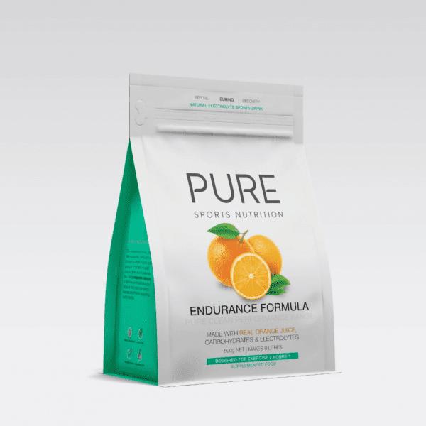 Pure Sports Nutrition Endurance Formula 500G Pouch (2 Flavours) | Orange