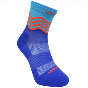 Unived Road Running Crew Compression Socks | Blue Red Main