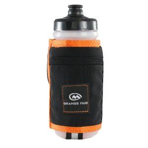 Orange Mud Handheld 600ml Running Bottle (Black/Orange) | HANDHELD-ORANGE-FRONT