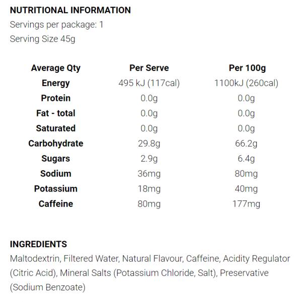 Koda Nutrition Energy Gels (8 Flavours) | Non Caffeine
