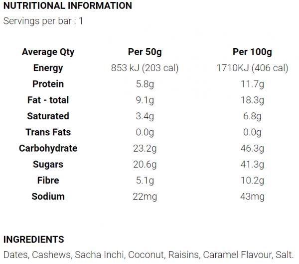 Koda Energy Bars (3 Flavours) | Salted Caramel